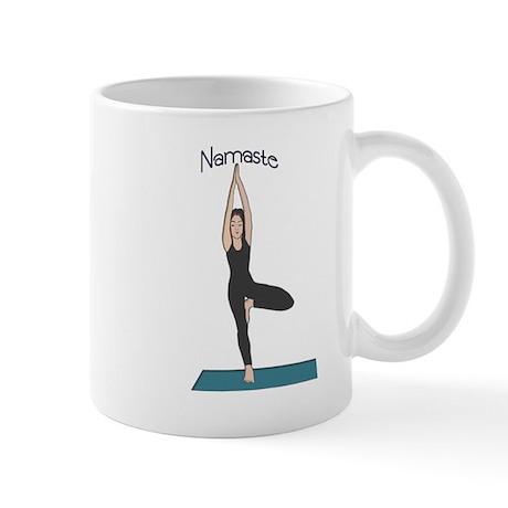 Yoga Woman in Tree Pose-Vriks Mug