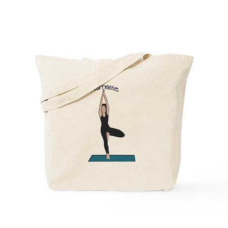 Yoga Woman in Tree Pose-Vriks Tote Bag