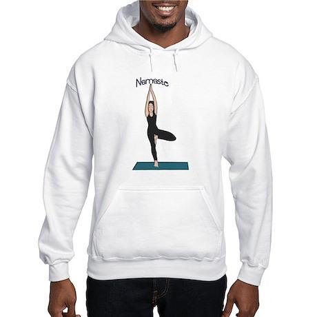 Yoga Woman in Tree Pose-Vriks Hooded Sweatshirt