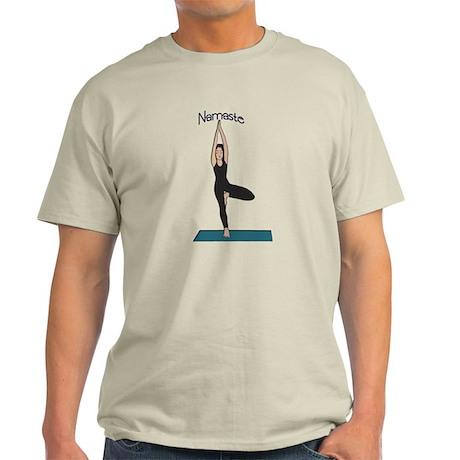 Yoga Woman in Tree Pose-Vriks Light T-Shirt