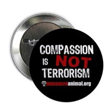 """COMPASSION IS NOT TERRORISM - 2.25"""" Button"""