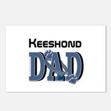 Keeshond DAD Postcards (Package of 8)