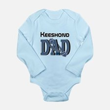 Keeshond DAD Long Sleeve Infant Bodysuit