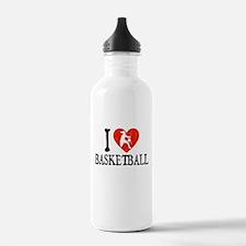 I Heart Basketball - Girl Water Bottle