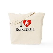 I Heart Basketball - Girl Tote Bag