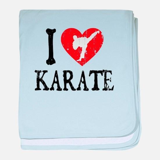 I Heart Karate - Guy baby blanket