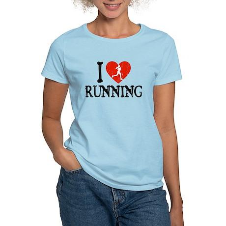 I Heart Running - Girl Women's Light T-Shirt