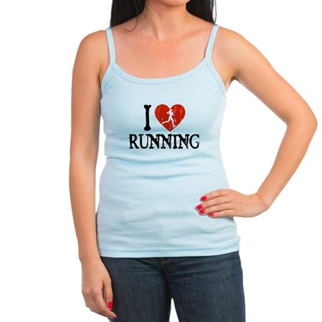 I Heart Running - Girl Jr. Spaghetti Tank