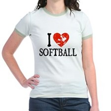 I Heart Softball - Girl T
