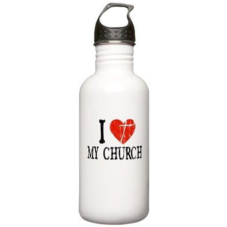 I Heart My Church Stainless Water Bottle 1.0L