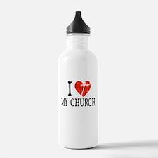 I Heart My Church Water Bottle