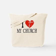 I Heart My Church Tote Bag