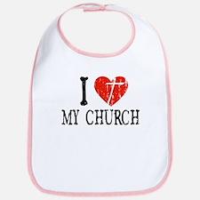 I Heart My Church Bib