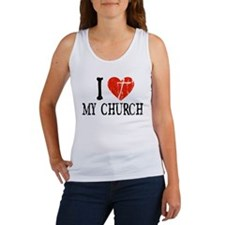 I Heart My Church Women's Tank Top