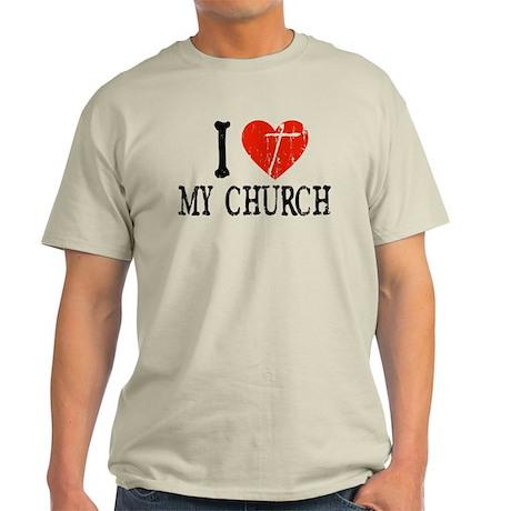 I Heart My Church Light T-Shirt