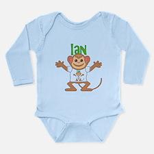 Little Monkey Ian Long Sleeve Infant Bodysuit