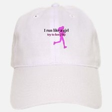 I Run Like a Girl Baseball Baseball Cap