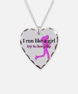 I Run Like a Girl Necklace