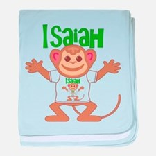 Little Monkey Isaiah baby blanket