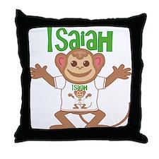 Little Monkey Isaiah Throw Pillow
