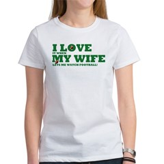 Funny my wife football Tee