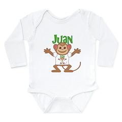 Little Monkey Juan Long Sleeve Infant Bodysuit