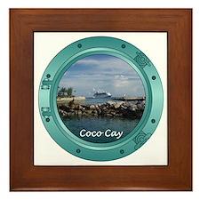 Coco Cay Cruise Ship Framed Tile