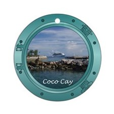 Coco Cay Cruise Ship Ornament (Round)