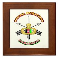 SOF - Special Operations - Afghanistan Framed Tile