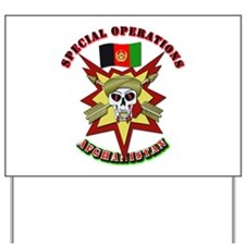 SOF - Special Operations - Afghanistan Yard Sign