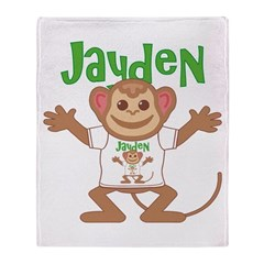 Little Monkey Jayden Throw Blanket