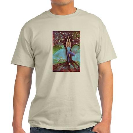 Yoga Balance-Tree POSE Light T-Shirt