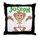 Little Monkey Joseph Throw Pillow