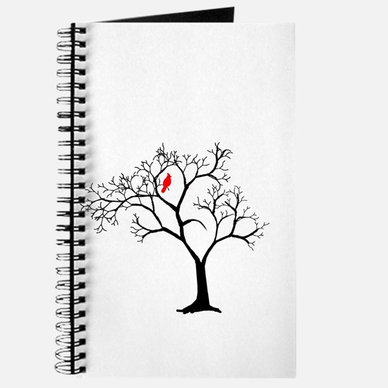 Cardinal in Snowy Tree Journal