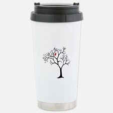 Cardinal in Snowy Tree Stainless Steel Travel Mug