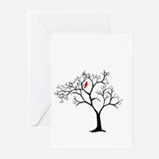 Cardinal in Snowy Tree Greeting Cards (Pk of 10)