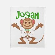 Little Monkey Josiah Throw Blanket