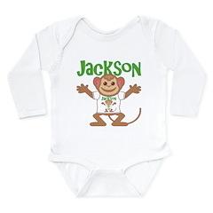 Little Monkey Jackson Long Sleeve Infant Bodysuit