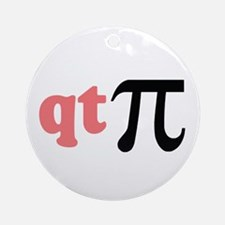 Math Humor QT Pi Ornament (Round)