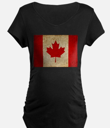 Faded Canadian Flag T-Shirt