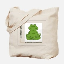 "Tote Bag - Happy frog says, ""Feel Great!&quot"