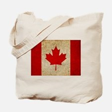 Faded Canadian Flag Tote Bag