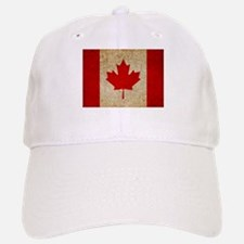 Faded Canadian Flag Baseball Baseball Cap