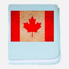 Faded Canadian Flag baby blanket