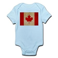 Faded Canadian Flag Infant Bodysuit