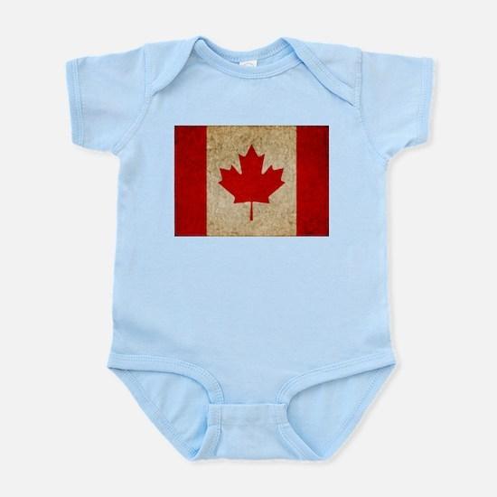 Faded Canadian Flag Infant Bodysuit