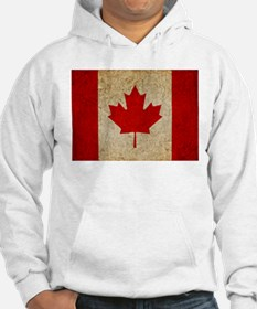 Faded Canadian Flag Jumper Hoody