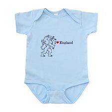 Blue Love England Infant Bodysuit