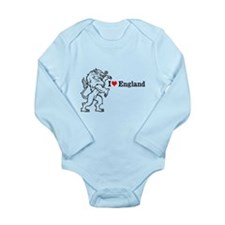 I Love England Long Sleeve Infant Bodysuit