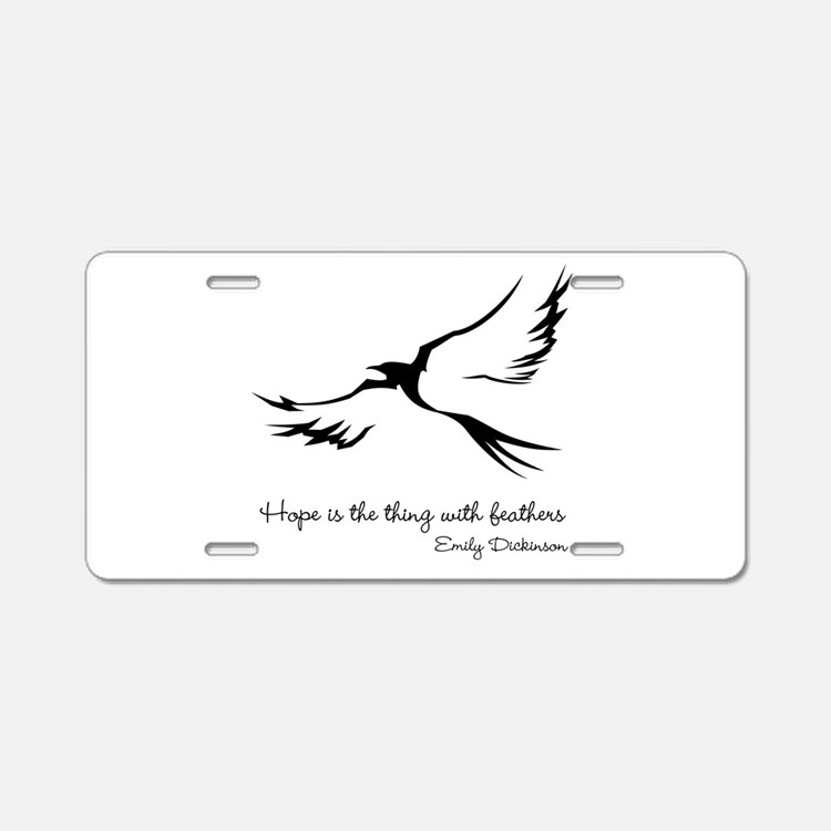 Feathered Hope Aluminum License Plate
